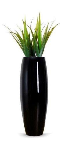 pas cher pot de fleurs jardinire grand  cm noir brillant magnum
