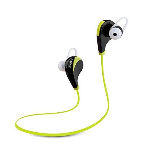 Imarku Bluetooth 4.0 ワイヤレスステレオヘッドセット ランニング ジョギングに最適 スポーツイヤフォン 音楽再生でき 防汗機能付きiphone 6, 6 Plus, 5 5c 5s 4s ipad, LG G2, Samsung Galaxy S5 S4 S3 Note 3及び他のAndroidスマートフォン対応(Green)