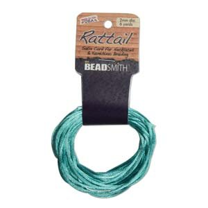 1mm Satin Rattail Braiding Cord Turquoise 6 Yards For Kumihimo and Craft 420213