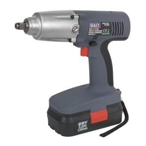 Sealey CP2600 Cordless Lithium-Ion Impact Wrench, 1/2-inch Square Drive, 335 lb ft, 26 V