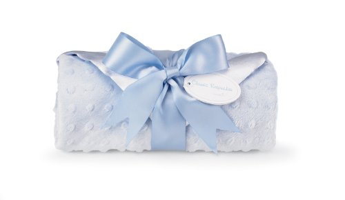 Mud Pie Baby Embossed Plush Blanket, Blue