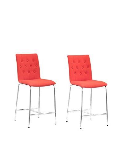 Zuo Modern Uppsala Set of 2 Modern Counter Chairs