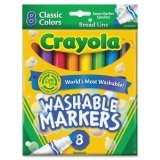 CYO587808 - Crayola Classic Washable Marker Set - 1