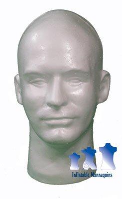 Male Head, Styrofoam White