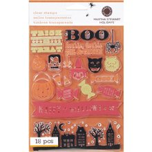 Kids Halloween Friends Clear Stamp 18 pc Set Martha Stewart Crafts
