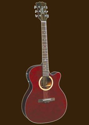 Sierra Sa28Cewr Acoustic Electric Cutaway Guitar Set- Sunrise Series