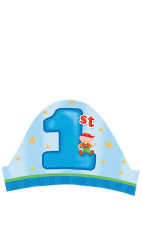 Creative Converting Fun at One Happy First Birthday Boy Party Headbands, 8 Count - 1