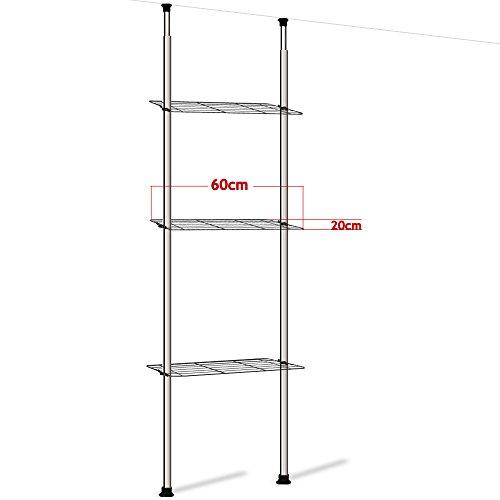 Ba o estanter a sin agujeros telesc pica estante estanter a armario lavadora - Etagere sans fixation ...
