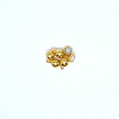 RäneeJ 5St. Magnetverschluss Kugel 6mm (gold)