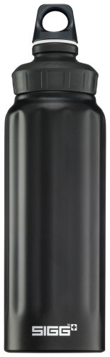 Sigg Wide Mouth Loop Top Water Bottle (1-Liter, Black)