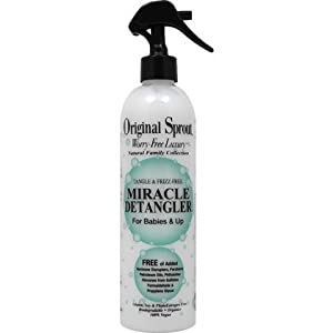 Original Sprout Miracle Detangler Spray (12 oz) - Vegan and Gentle Formula Removes Tangles for Straight, Smooth, Silky Hair for Babies, Children and Adults by Original Sprout
