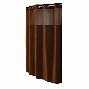 Hookless Fabric Shower Curtain Brown Home Kitchen