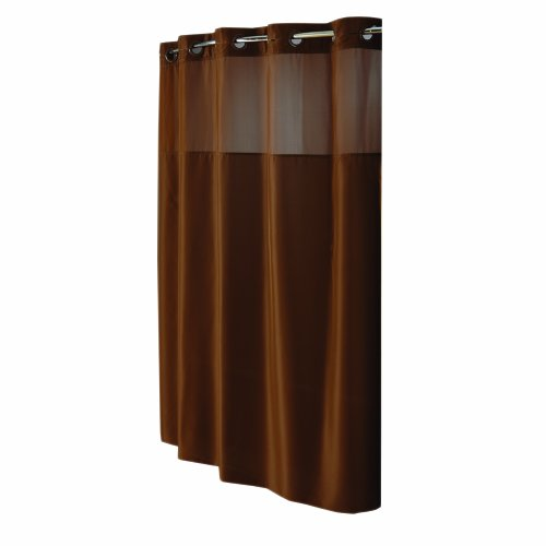 Hookless Mystery Fabric Shower Curtain, Brown $12.98