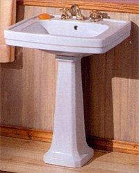 Buy Deco Style Pedestal Sink - 24