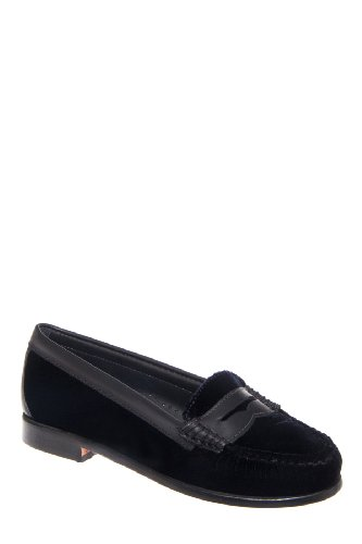 Bass Weejuns Weejuns Virginia Low Heel Penny Loafer - Black Velvet