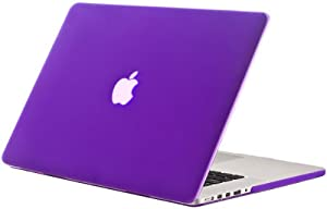 "Kuzy - NEWEST Apple MacBook Pro 15.4"" with Retina Display A1398 PURPLE Rubberized Hard Case Cover Aluminum Unibody 15-Inch (NEWEST VERSION)"