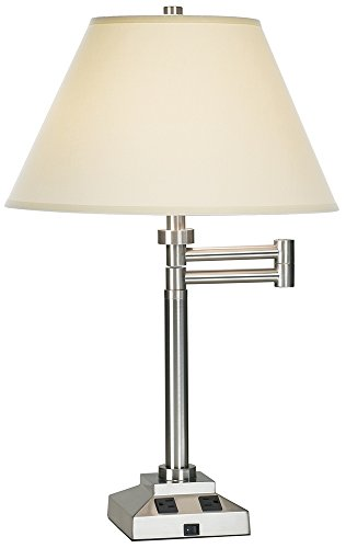 best table lamps with power outlets electrical outlet in base on. Black Bedroom Furniture Sets. Home Design Ideas