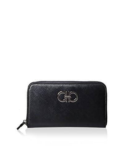 Salvatore Ferragamo Women's Leather Zip Wallet, Black