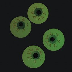 Glow-in-the-Dark Bouncing Eyeballs (1 dz) - 1