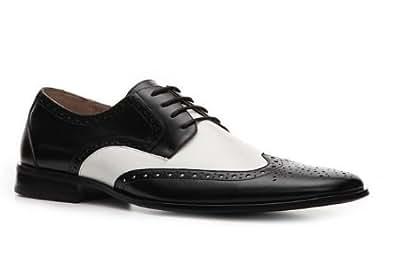 """STACY ADAMS Chaussure pour homme"""" Nolan"""" en cuir couleur noir et blanc (41)"""