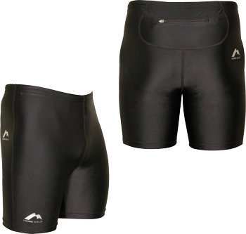 More Mile Boltz Sprint black running shorts