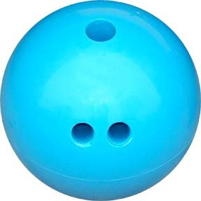 Buy 4 lb. Cosom Rubberized Plastic Bowling Ball - Blue by Olympia Sports