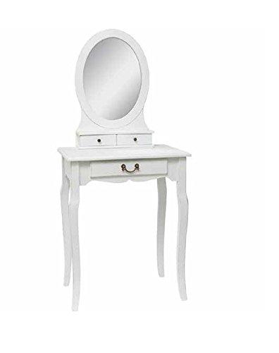 Consolle in legno bianco con specchio