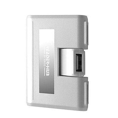 Zclexco 4-Port Multifunctional Usb Hub Card Reader