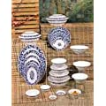 Thunder Group Rose Collection 12-Pack Platter, 16 by 11-5/8-Inch, Melamine, White