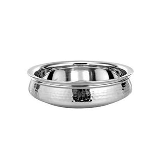 Stainless Steel Serving Handi With Diamention 17.5 Cm