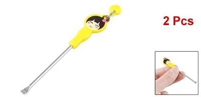 Move&Moving(TM) 2 Pcs Yellow Cartoon Girl Pattern Earpick Earwax Ear Wax Remover Ears Care Tool