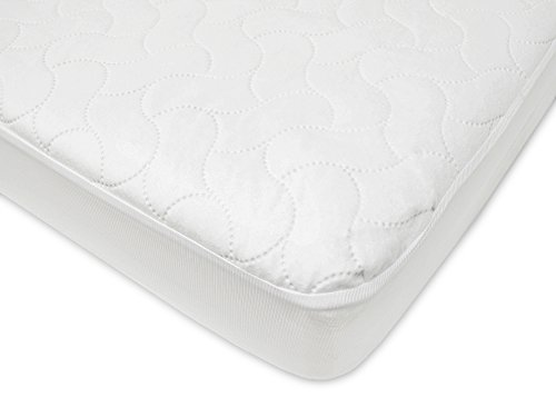 American Baby Company Waterproof Fitted Crib and Toddler Protective Mattress Pad Cover, White (Baby Mattress Pads compare prices)