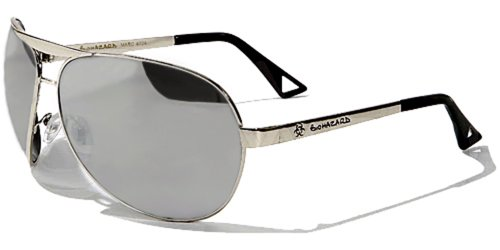 Occhiali da Sole Biohazard Aviator - Sport - Ciclismo - Sci - Driving - Moto - Spiaggia - Stile - Moda / Mod. Classic Argento