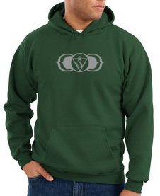 Ajna Yoga Meditation Chakra Symbol Sign Adult Hoody Sweatshirt - Dark Green, Xl
