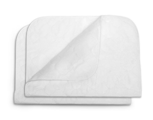 Kids Line 2 Pack Multi Use Quilted Pad, White front-991699