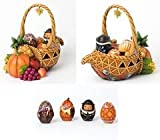 Jim Shore Heartwood Creek Bounty Of Blessings Thanksgiving Figurines Set of 5