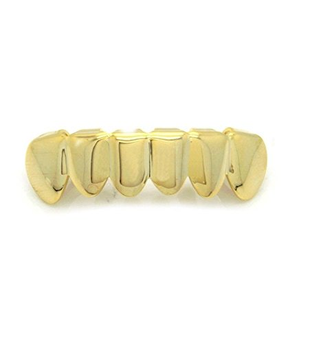 Hip Hop Gold Plated Removeable Mouth Grillz Bottom Row Player Hip Hop Style