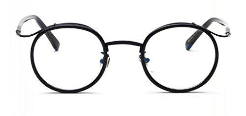 [GAMT Retro Nerd Style Glasses Round Shape Glass Metal Frame Eyeglasses Black] (Cheap Nerd Glasses)