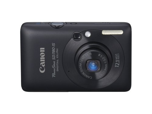 Canon PowerShot SD780IS 12.1 MP Digital Camera with 3x Optical Image Stabilized Zoom and 2.5-inch LCD (Black)
