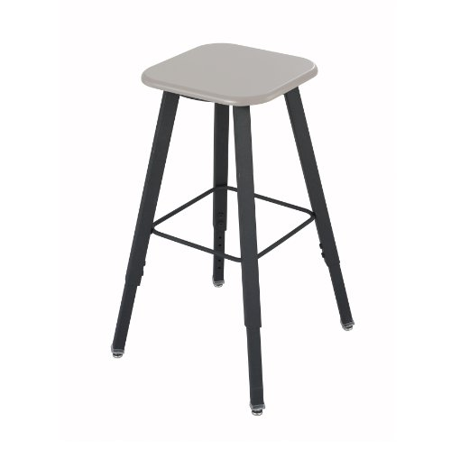 Safco Products Alphabetter Stool For Alphabetter Stand-Up Desk, Beige Seat, Black Frame, 1205Be
