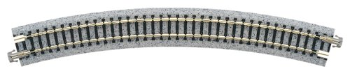 "Kato USA Model Train Products Unitrack, 381mm (15"") Radius 30-Degree Curve Track (4-Piece)"
