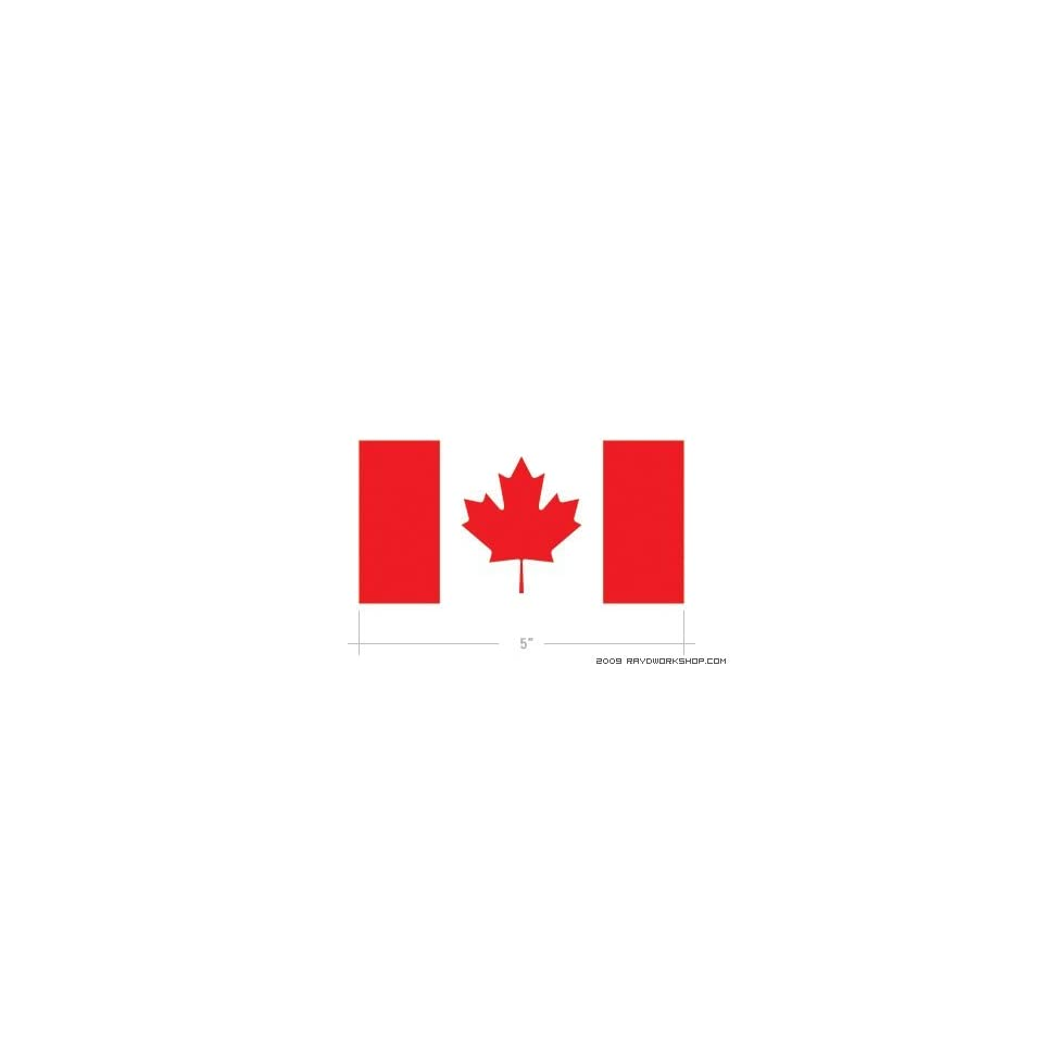 (2x) Canadian Flag   Canada   Maple Leaf   Sticker   Decal   Die Cut