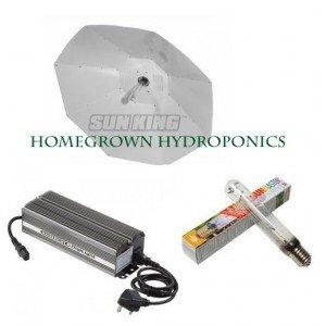 Sunking 600W (100Cm) Sun King Parabolic Grow Light Kit - Digital Ballast