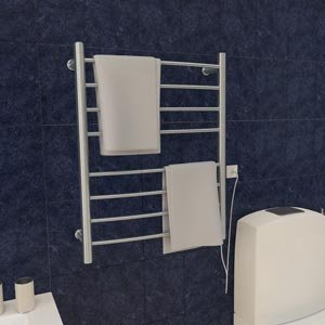 Ancona Comfort 9s Electric Towel Warmer and Drying Rack Plug-in Brushed-steel Finish