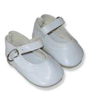 "White Doll Dress Shoes fits 18"" dolls like American Girl - 1"