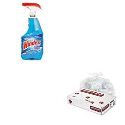 KITDRA90135EAJAGD38634CL - Value Kit - Jaguar Plastics D38634CL Clear Industrial Strength 2.7 Mil Drum Can Liners, 38quot; x 63quot; (JAGD38634CL) and Windex Powerized Glass Cleaner with Ammonia-D (DRA90135EA)