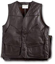 Pebble-Grain Leather Hunting Vest - Buy Pebble-Grain Leather Hunting Vest - Purchase Pebble-Grain Leather Hunting Vest (Orvis, Orvis Vests, Orvis Mens Vests, Apparel, Departments, Men, Outerwear, Mens Outerwear, Vests, Mens Vests)