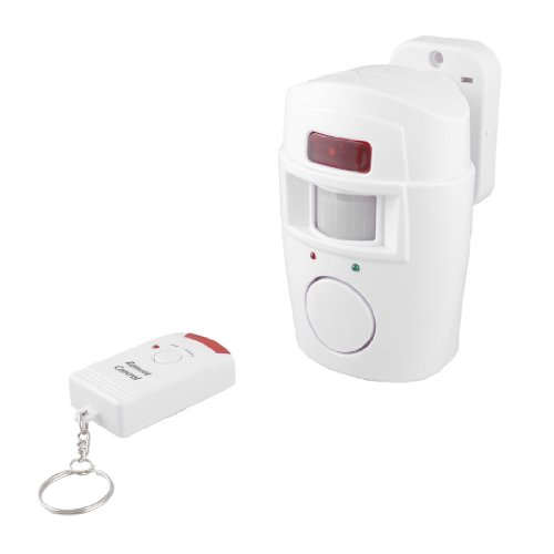 uxcell® Security Motion Sensitive Remote Control Intruder Burglar Alarm Sound Warning 105dB