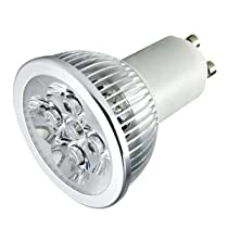 TORCHSTAR LED GU10 3200K Warm White Spotlight 110V 4W (330 Lumen - 50 Watt Equivalent) 45 Degree Beam angle