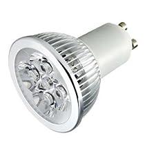 TORCHSTAR LED GU10 3200K Warm White Spotlight 110V 4W (330 Lumen - 50 Watt Equivalent) 45 Degree Beam angle
